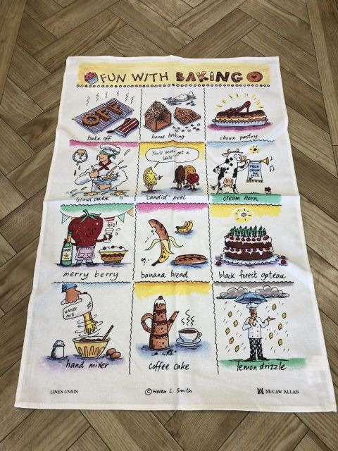 Fun with Baking Linen Union Tea Towel